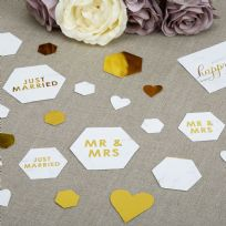 Scripted Marble Table Confetti